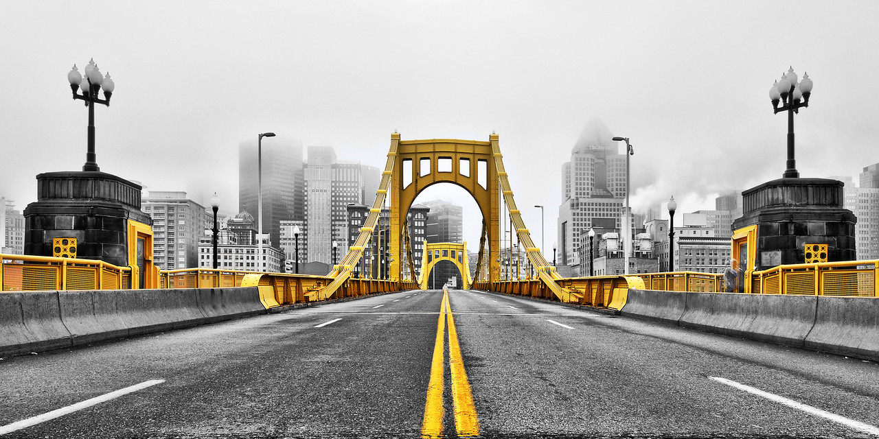 """""""Black and Gold"""" - Pittsburgh, North Shore   Recommended Print sizes*:  4x8  
