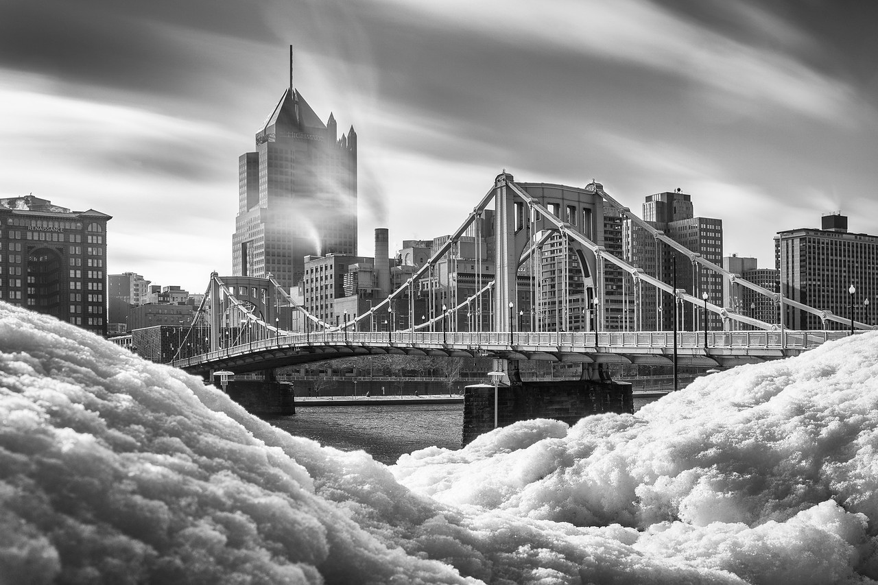"""Mountains of Snow and Steel"" - Pittsburgh, North Shore   Recommended Print sizes*:  4x6  