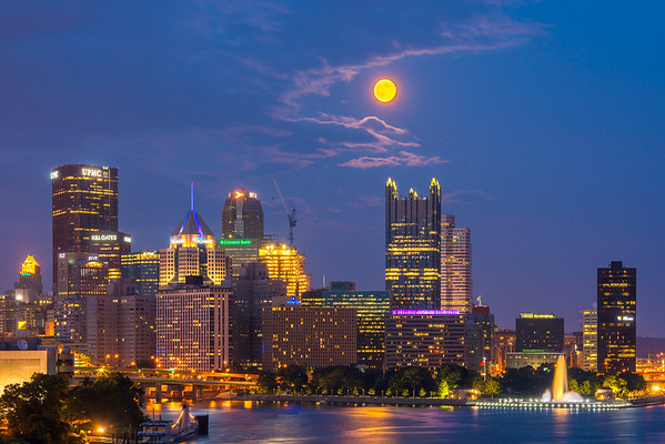 """West End Moon"" - Pittsburgh, West End   Recommended Print sizes*:  4x6  