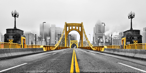 """Black and Gold"" - Pittsburgh, North Shore   Recommended Print sizes*:  4x8  