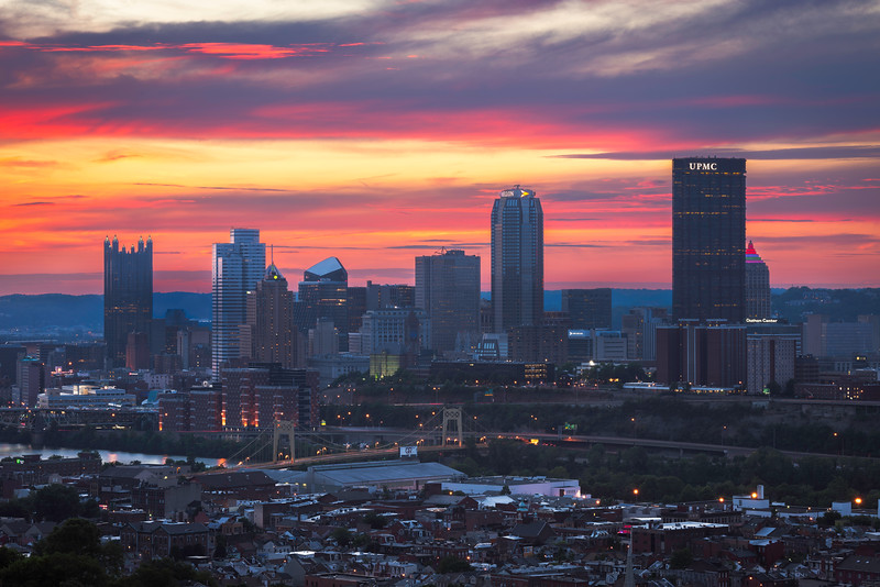"""""""Sunset Slopes"""" - Pittsburgh, South Side Slopes   Recommended Print sizes*:  4x6  