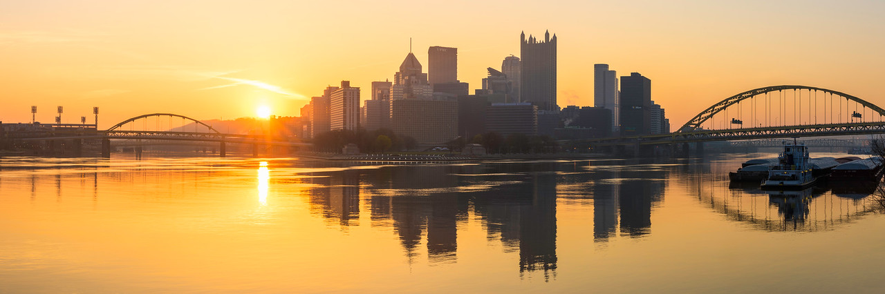 """""""Golden Triangle"""" - Pittsburgh, South Side   Recommended Print sizes*:  5x15  