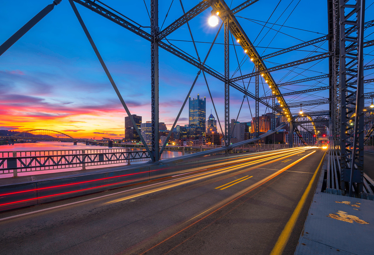 """""""Smithfield Streaking"""" - Pittsburgh, South Side   Recommended Print sizes*:  4x6  