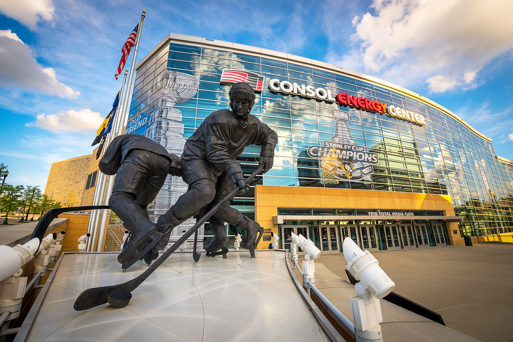 """""""Welcome Back Old Friend"""" - Pittsburgh, Consol Energy Center   Recommended Print sizes*:  4x6      8x12     12x18     16x24     20x30     24x36 *When ordering other sizes make sure to adjust the cropping at checkout*  © JP Diroll 2016"""