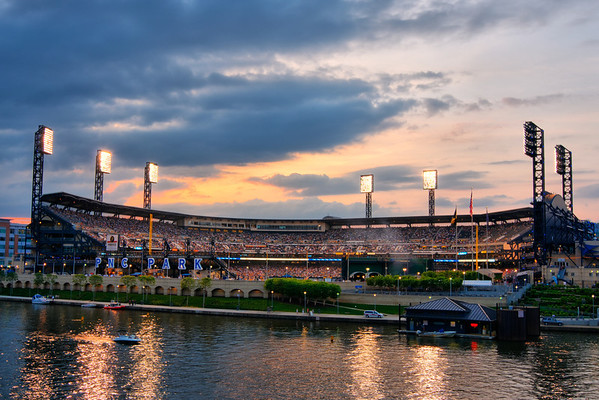 """Buccaneer Sunset"" - Pittsburgh, PNC Park   Recommended Print sizes*:  4x6  