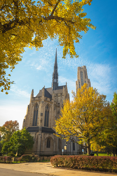"""Two Cathedrals"" - University of Pittsburgh   Recommended Print sizes*:  4x6  