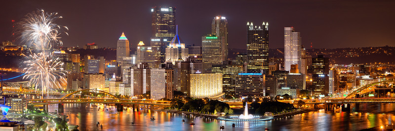 """""""Yinzers Love Fireworks"""" - Pittsburgh, West End   Recommended Print sizes*:  5x15  