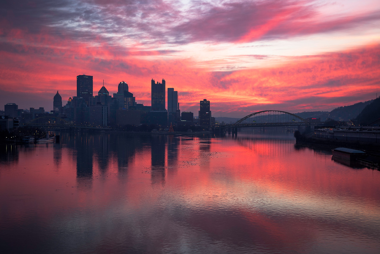 """""""Pink Dawn"""" - Pittsburgh, West End   Recommended Print sizes*:  4x6  