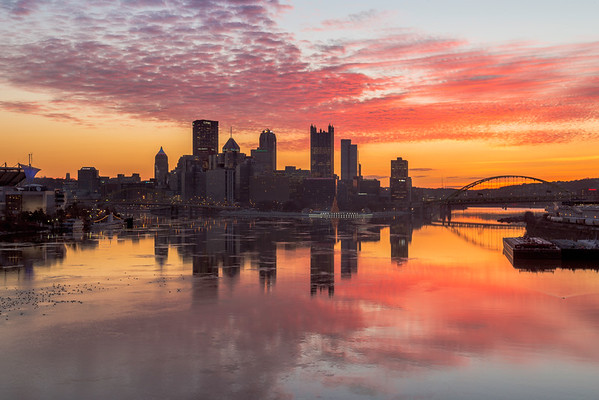 """Sunrise Silhouette"" - Pittsburgh, West End   Recommended Print sizes*:  4x6  
