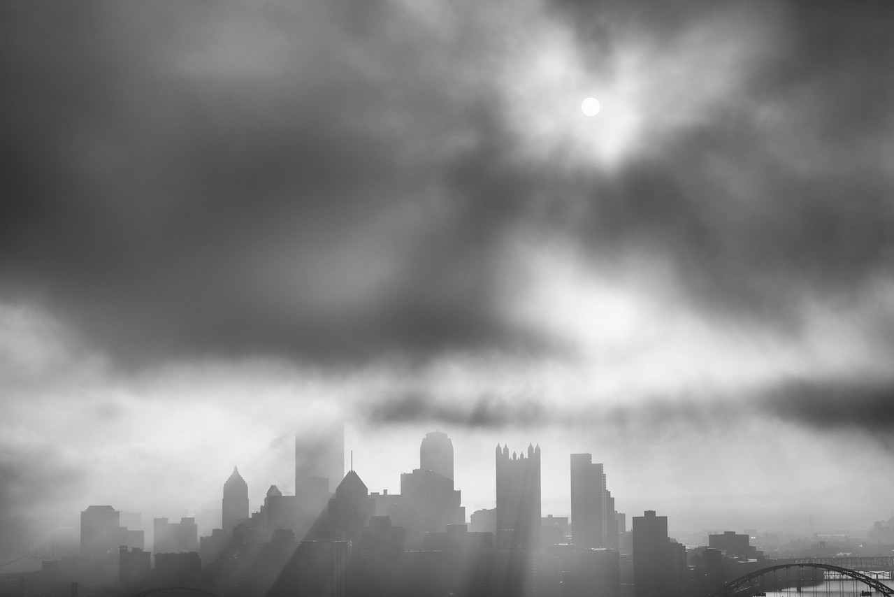 """""""Pittsburgh's Bat Signal"""" - Pittsburgh, West End   Recommended Print sizes*:  4x6  