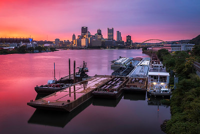 """Cotton Candy Sunrise"" - Pittsburgh, West End   Recommended Print sizes*:  4x6  
