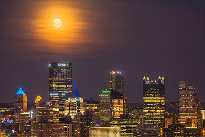 """Harvest Moon"" - Pittsburgh, West End   Recommended Print sizes*:  4x6  