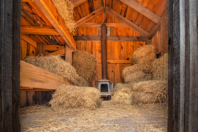 Not sure this is the safest place to store hay