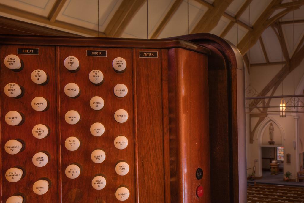 St. Marys Dekalb IL Love the patina of an old church organ.