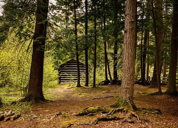 Worlds End Log Cabin