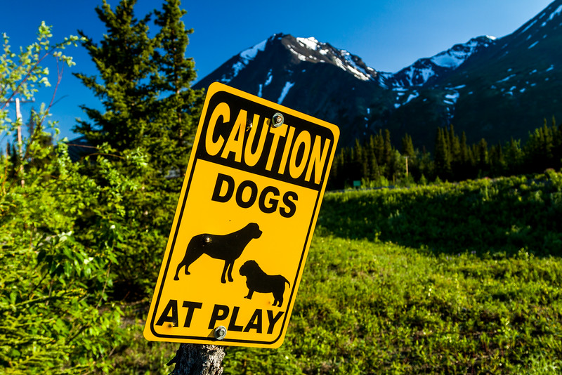 A sign by our cabin at Denali.