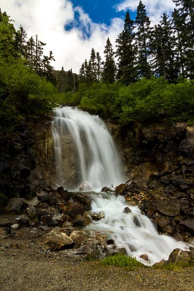A cute waterfall off Klondlike Hwy near Skagway.