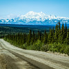 Denali Highway appears to lead us straight to Mt. McKinley. Unfortunately, that's not the case. The only way to access the tallest peak in North America is by hiking or by flying.