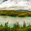 Emerald Lake (Yukon) within 100 miles from Skagway off Klondlike Hwy).