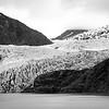 Mendenhall Glacier in Ansel Adams style