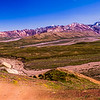 A panoramic view from Polychrome Pass in Denali shows the isolation and remoteness of this place.