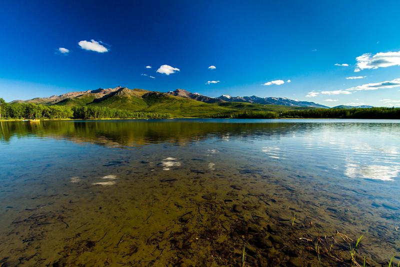 Reflections at Otto Lake in Healy, Alaska