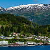 The beautiful town of Ketchikan from the cruise ship.