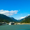 Goodbye to Skagway. Evidently our cruise ship was the first to depart.