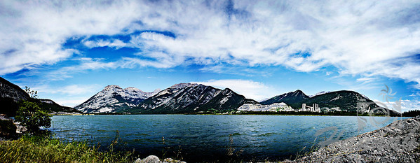 """Panorama of """"Lac des Arcs"""".   This is a lake in Alberta, Canada that forms part of the Bow River.   © Copyright Hannah Pastrana Prieto"""