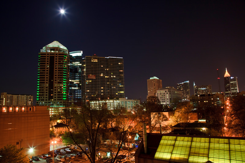 Atlanta Skyline  with Super Moon