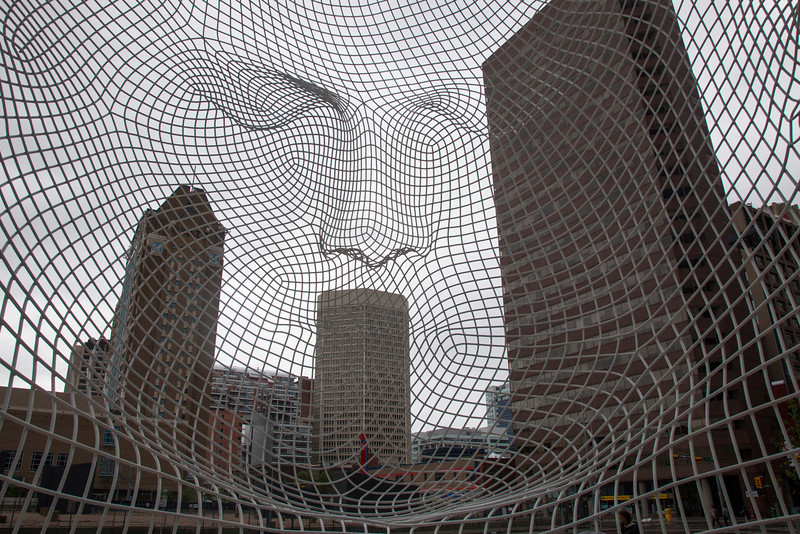 From inside the public Art, Calgary!