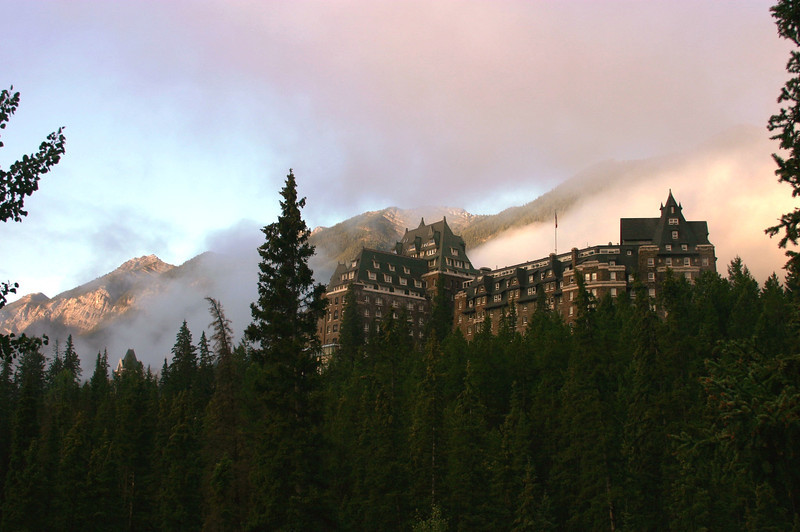 The historic Banff Springs Hotel
