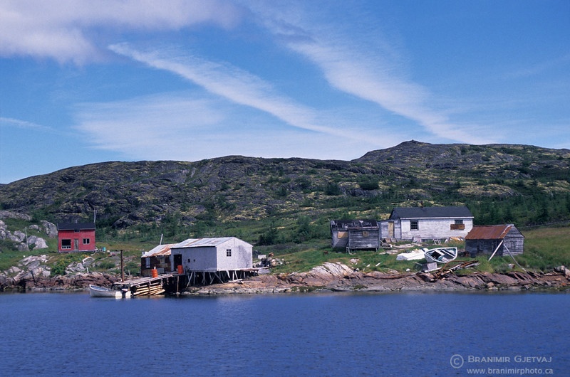 Fishing village in coastal Labrador