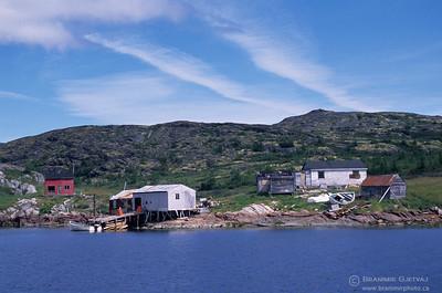 Fishing village in coastal Labrador