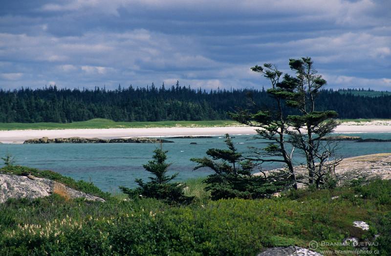 Sandy beach at Kejimkujik National Park, Nova Scotia
