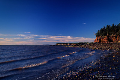 Rocky beach at Noel Shore, Nova Scotia