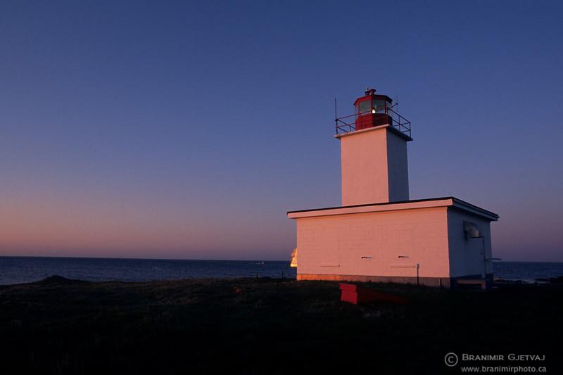 South Lighthouse. Bon Portage Island, Nova Scotia