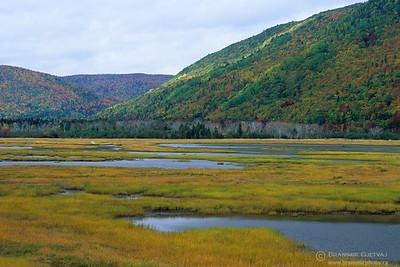Autumn landscape at Indian Brook. Cape Breton Island, Nova Scotia