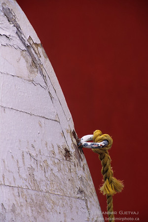 Detail of a fishing boat. Newfoundland and Labrador