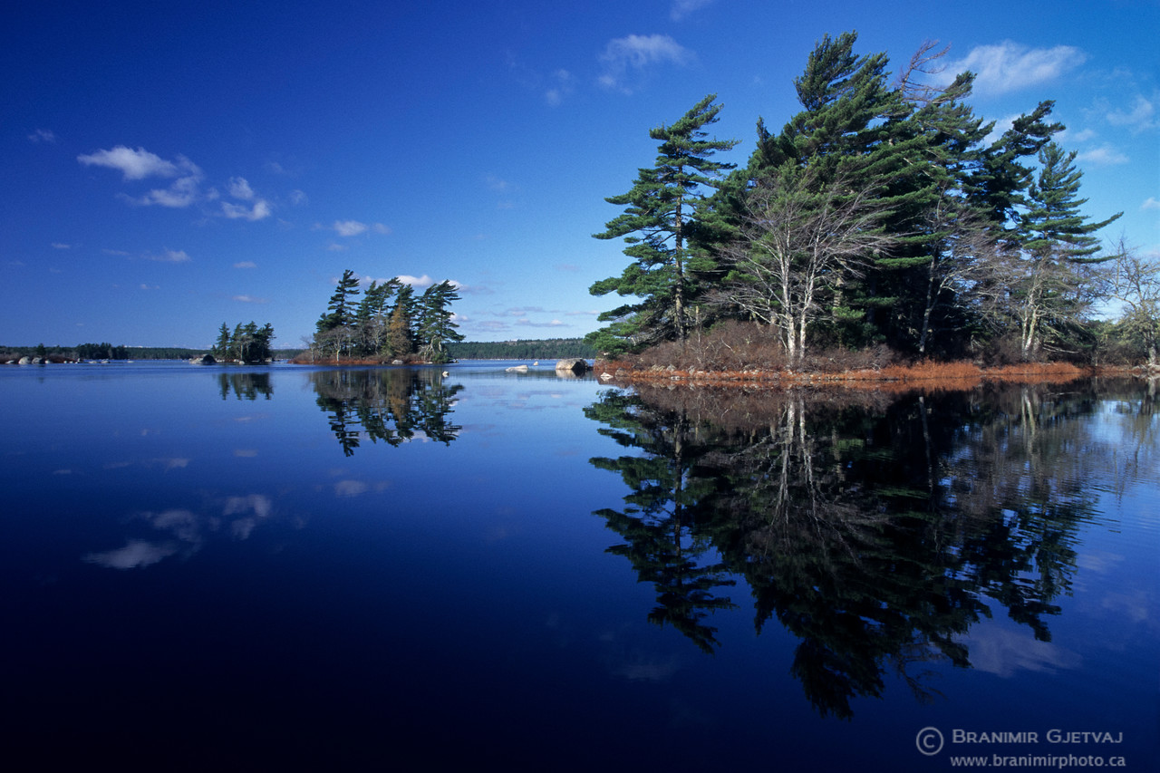 Lake reflection. Kejimkujik National Park, Nova Scotia