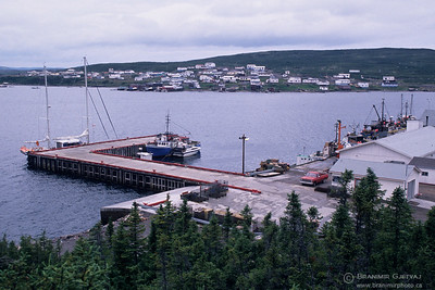 View of St. Lewis harbour, a snow crab fishing community in Labrador