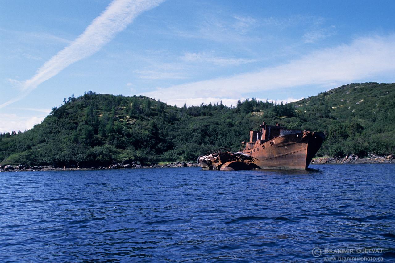 Abandoned whaling ship, Labrador