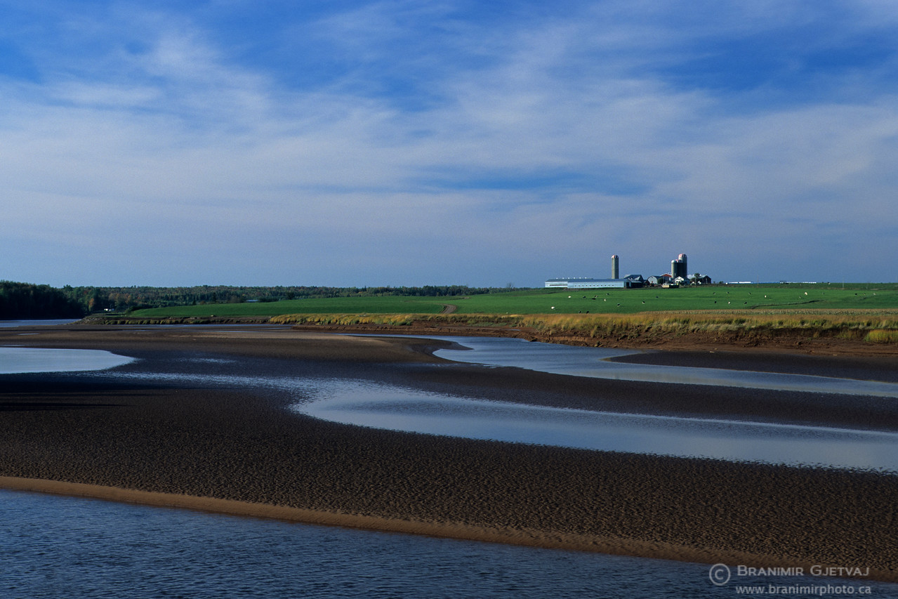 Muddy banks of Stewiacke River, Nova Scotia