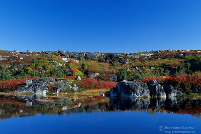 Rugged landscape near Peggy's Cove, Nova Scotia