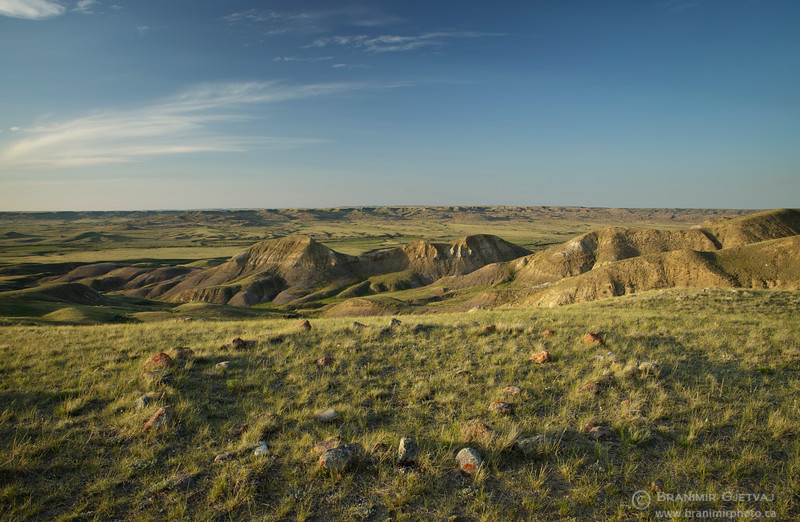Tipi (teepee) rings in Grasslands National Park, Saskatchewan