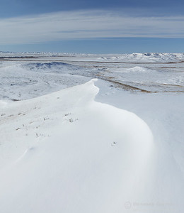 Grasslands National Park in winter, Saskatchewan