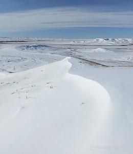 Grasslands National Park in winter, Saskatchewan