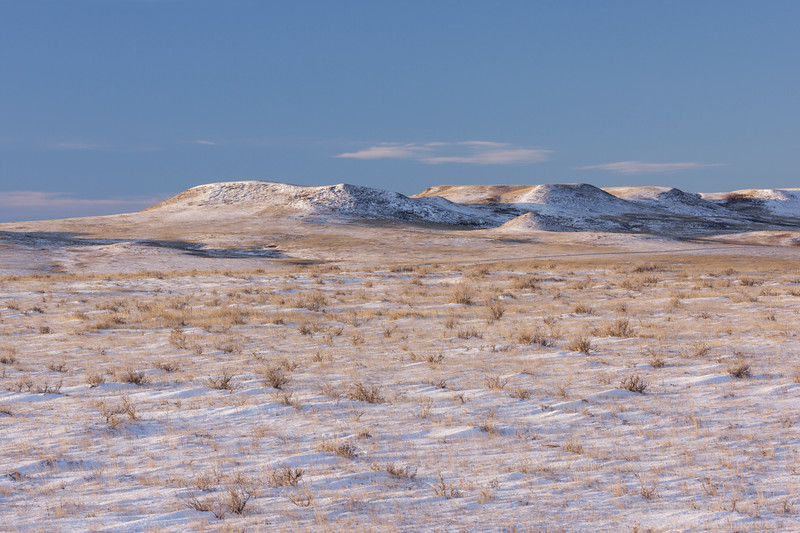 Winter in Grasslands National Park - East Block, Saskatchewan