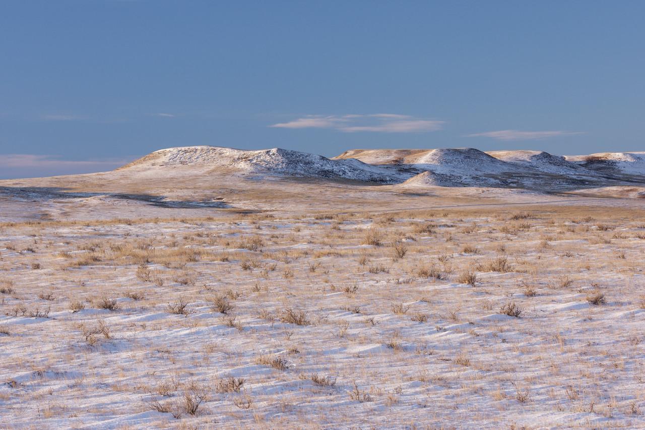 Winter in Grasslands National Park - East Block, Saskatchewan