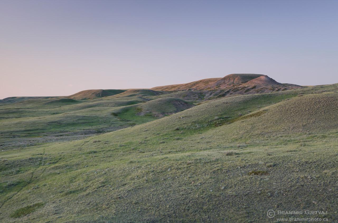 Grasslands National Park (West Block) at sunset. Saskatchewan